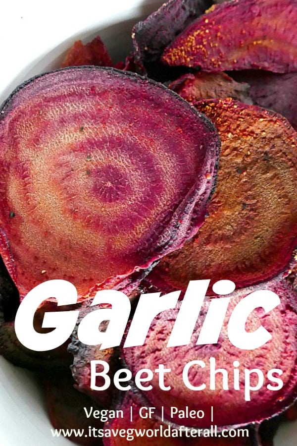 Baked Garlic Beet Chips