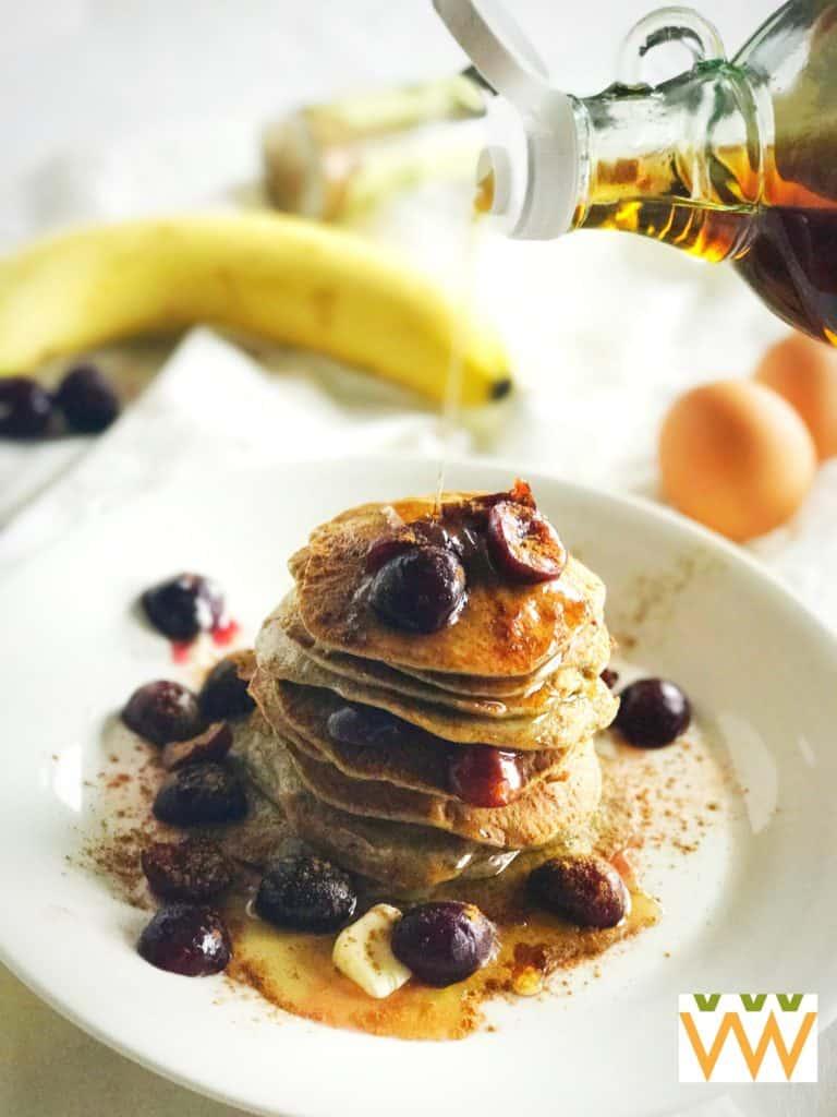 flourless pancake stack