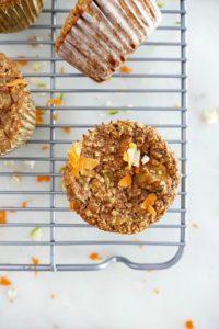 Zucchini Carrot Oat Muffins