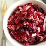 Vegan and paleo beet and cabbage slaw