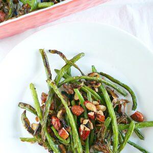Healthier green bean casserole for Thanksgiving