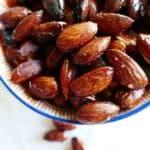 Vegan, gluten-free, and paleo maple roasted almonds