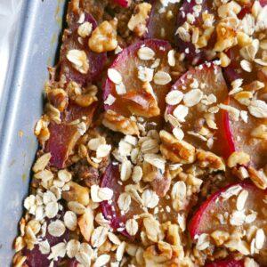 spiced-plum-walnut-baked-oatmeal