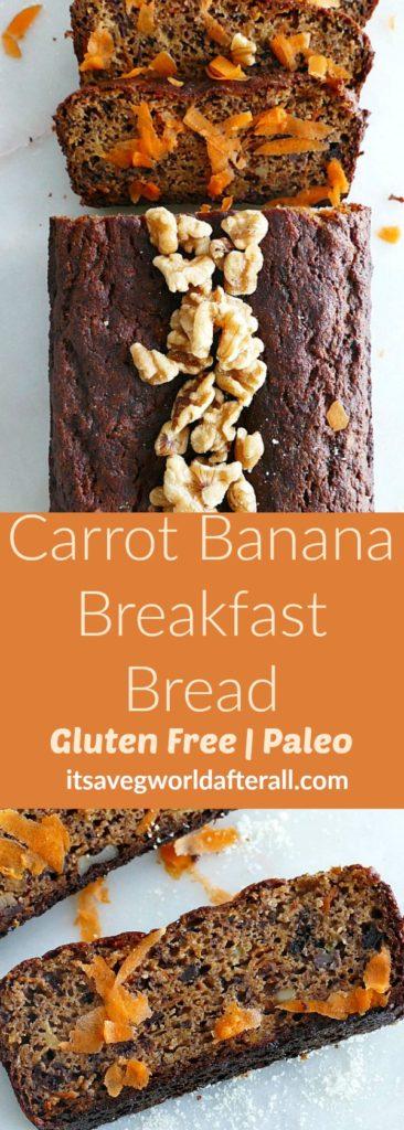Paleo Carrot Banana Breakfast Bread