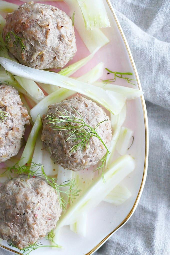 Mini Fennel and Apple Turkey Meatballs