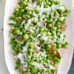 Parmesan Peas and Shallots