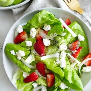 Butter Lettuce Strawberry Salad
