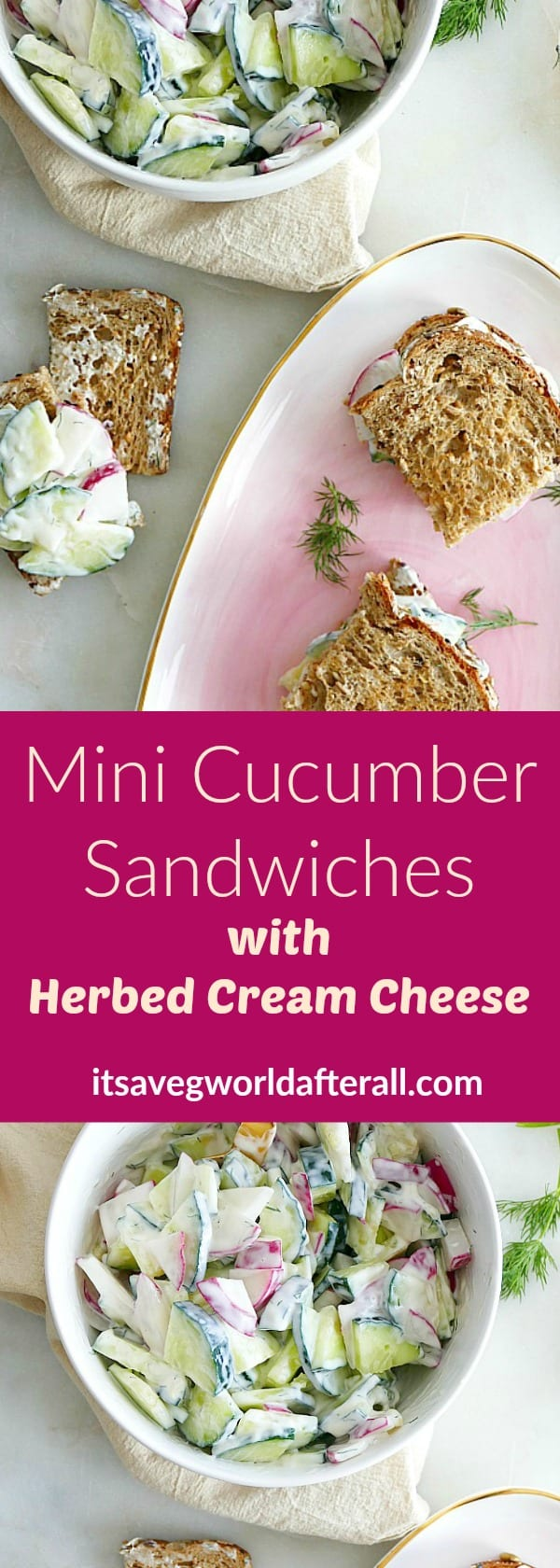 Mini Cucumber Sandwiches with Herbed Cream Cheese