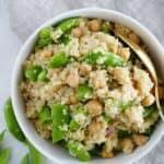 snap pea quinoa salad