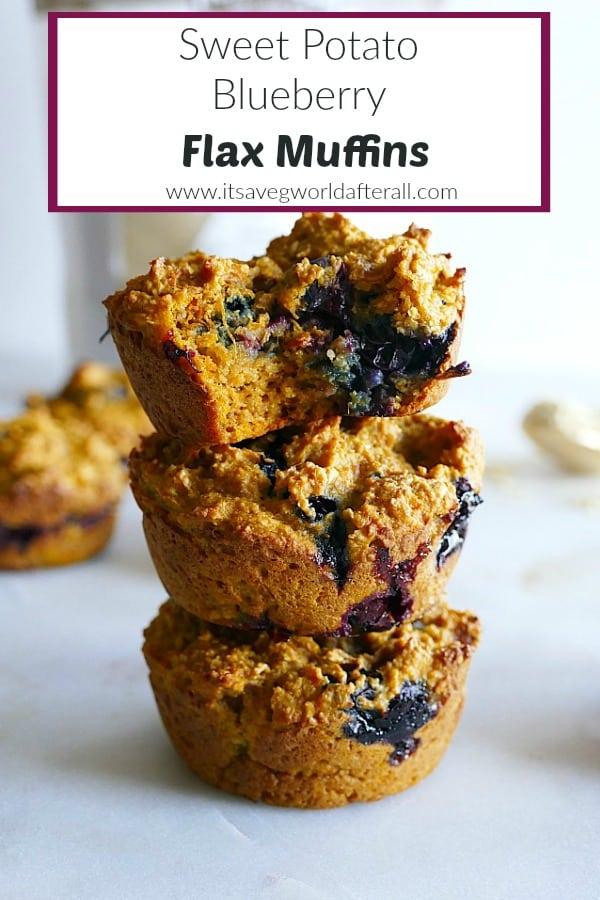 Sweet Potato Blueberry Flax Muffins