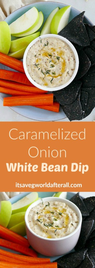 Caramelized Onion White Bean Dip
