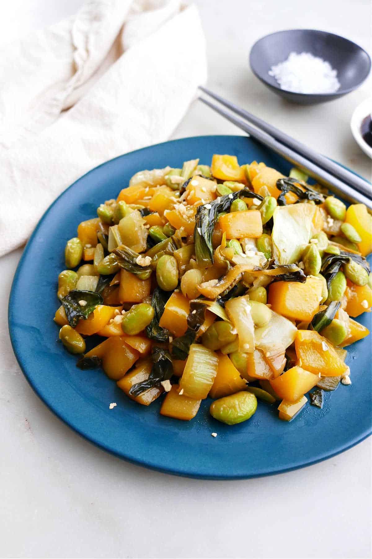 Bok Choy Mango Stir Fry