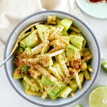 chili lime jicama and cucumber