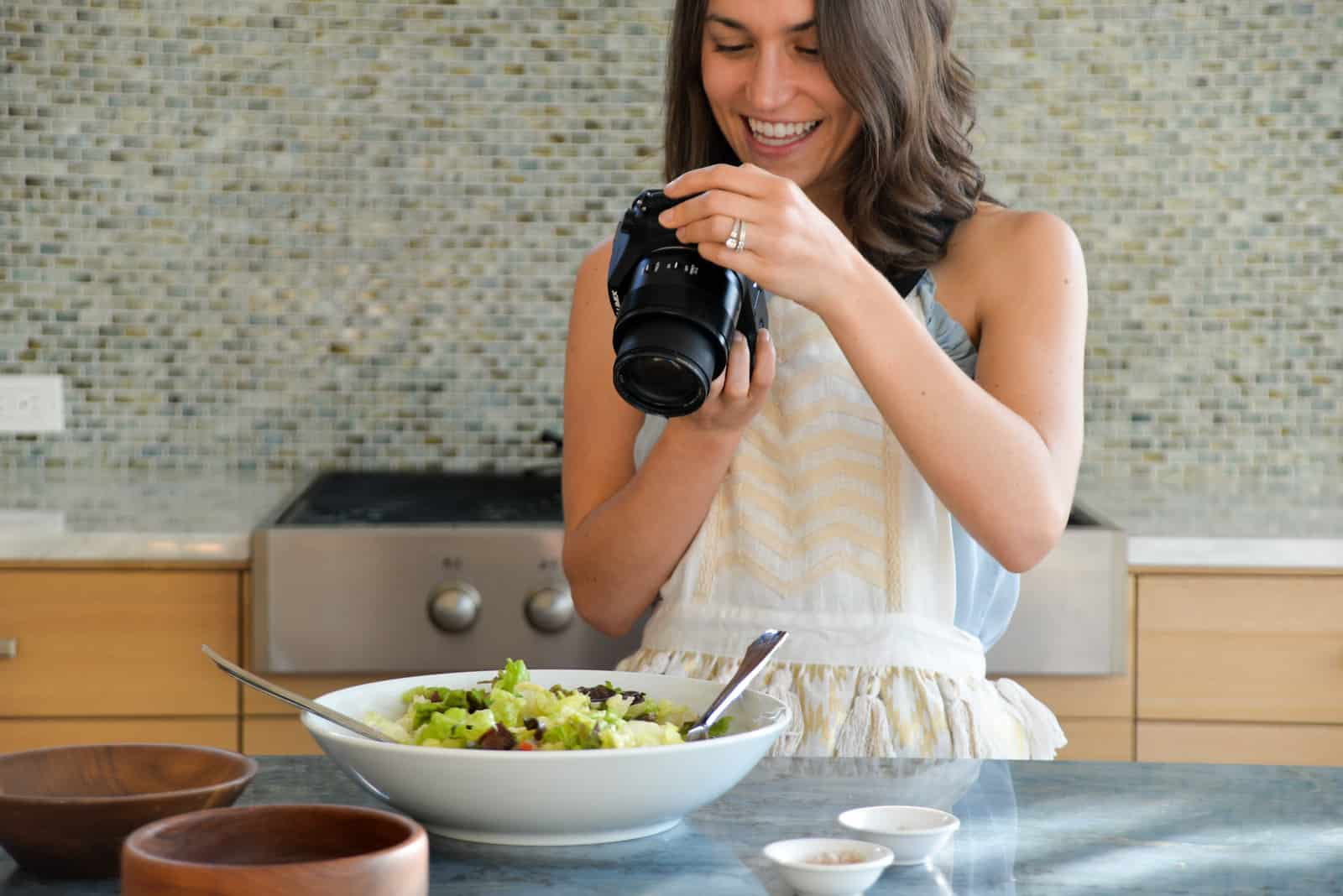 food photography and recipe development