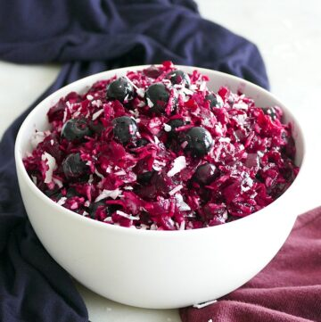 blue berry beet slaw