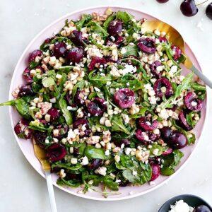 Sweet corn and cherry arugula salad 1