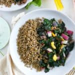 Weeknight Quick Braised Swiss Chard and Lentils