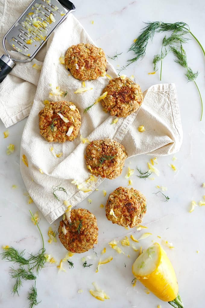 Summer Squash and Dill Salmon Burgers