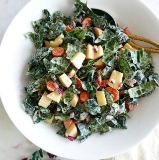 Chopped Kale Salad with Tahini Dressing