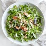 Arugula fig and barley salad