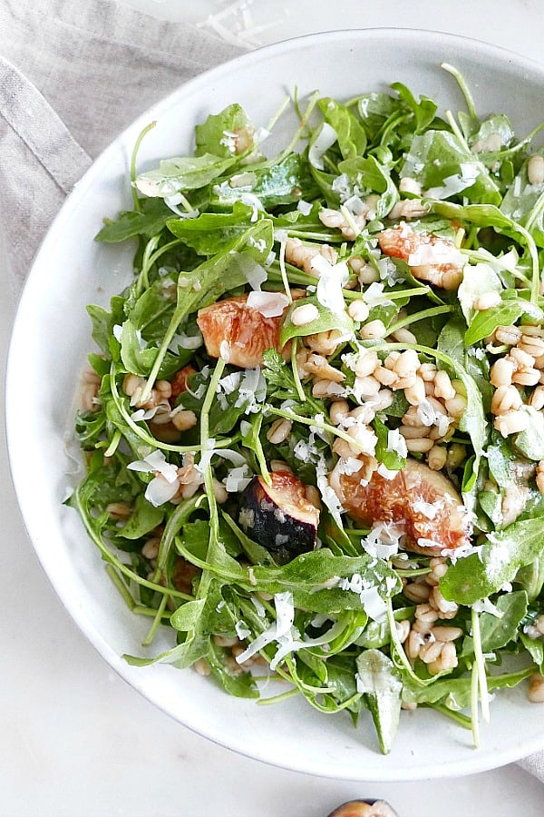 Fig and Barley Arugula Salad