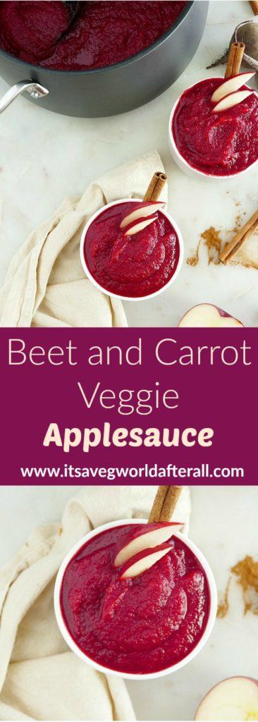 Beet and Carrot Veggie Applesauce