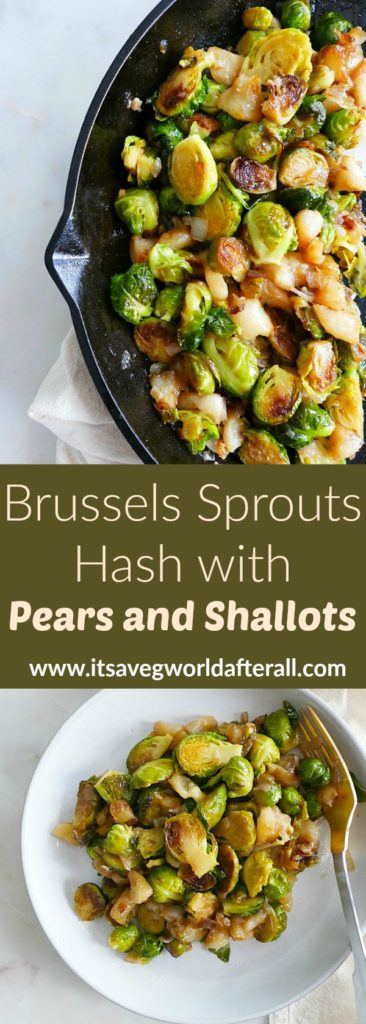 Brussels Sprouts Hash with Pears