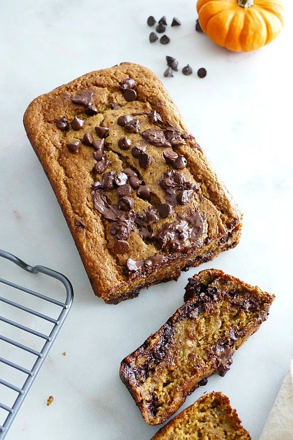 pumpkin banana oat bread