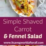 Shaved Carrot Fennel Salad