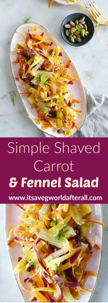 Shaved Carrot Fennel Salad