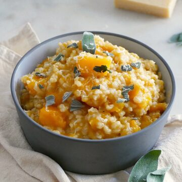 Slow Cooker Brown Rice Butternut Squash Risotto