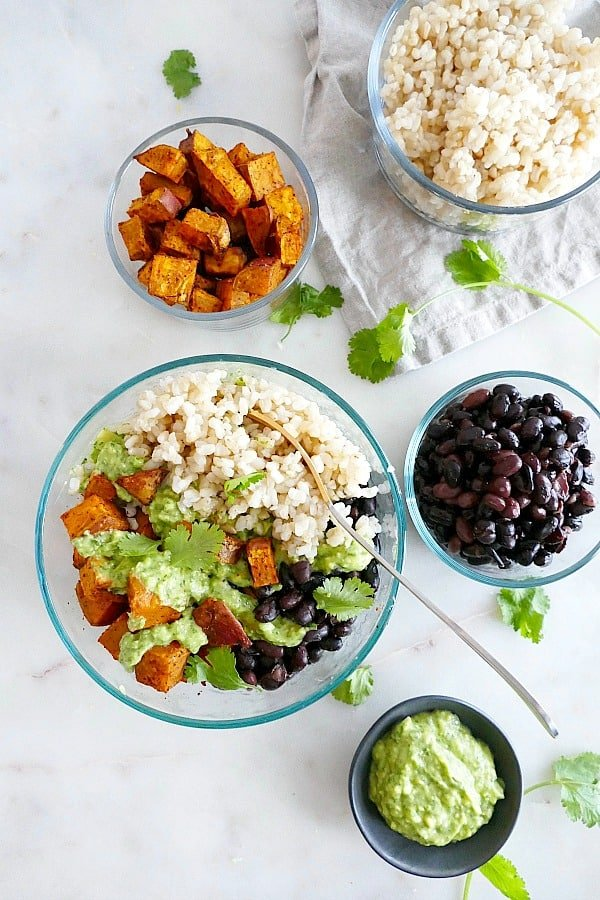 Sweet Potato Black Bean Meal Prep Bowls