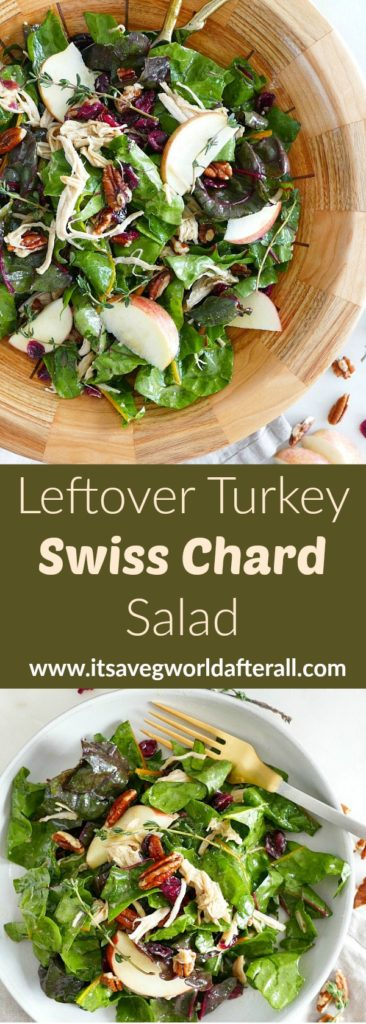 Maple Swiss Chard Salad With Turkey It S A Veg World After All
