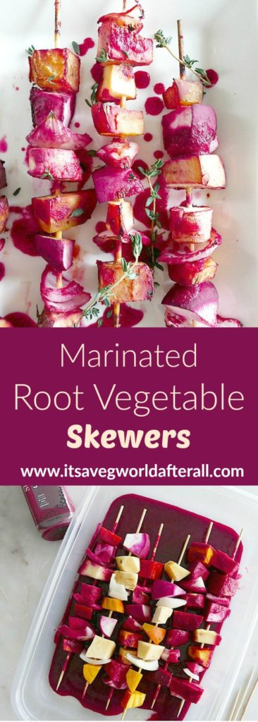 Marinated Roasted Root Vegetable Skewers