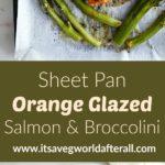 Orange Glazed Salmon and Broccolini
