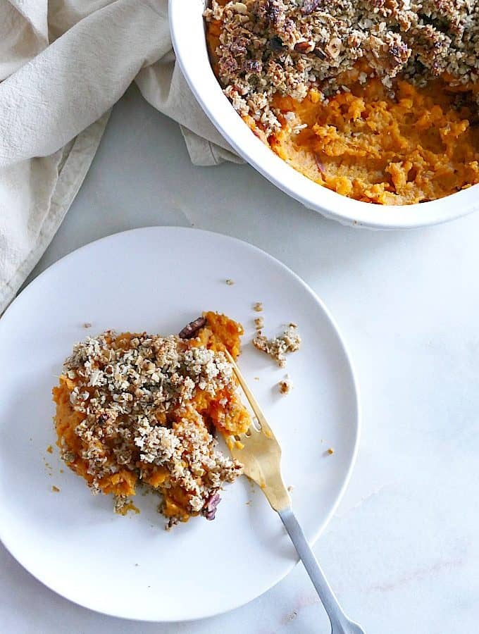 Lighter Sweet Potato Casserole