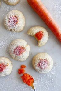 Classic Thumbprint Cookies with Carrot Jam
