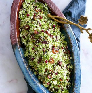 Shredded Brussels Sprouts Salad