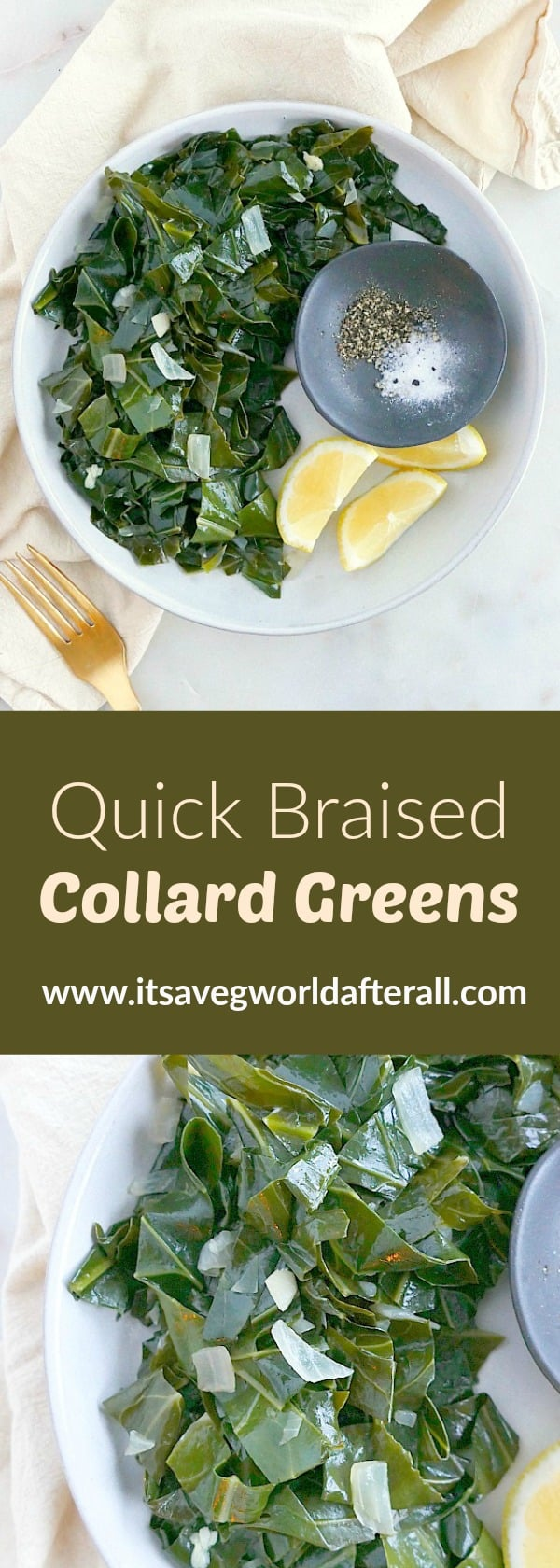 Quick Braised Collard Greens Pin