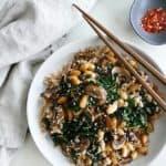 Baby Portobello Mushroom Stir Fry