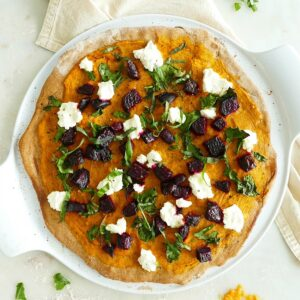 Butternut Squash and Beet Pizza