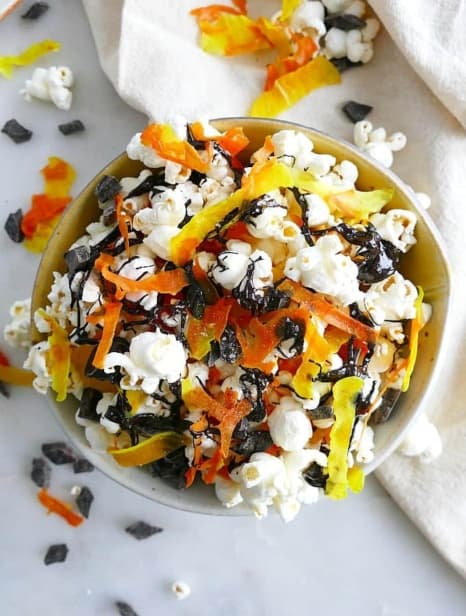 Candied Vegetable Popcorn Mix