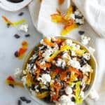 Candied Vegetable Popcorn Mix with chocolate