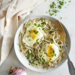 turnip noodles with eggs and chive