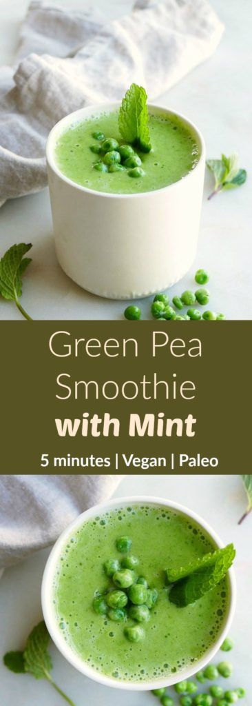 Green Pea Smoothie with Mint pin