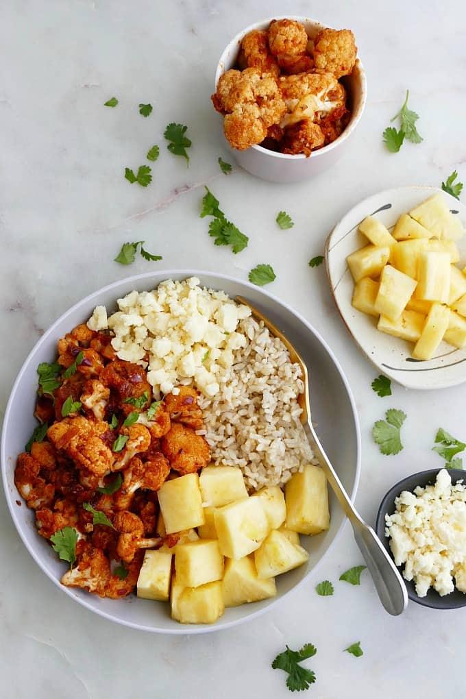 cauliflower al pastor bowls