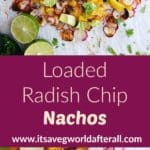 Loaded Radish Chip Nachos pin