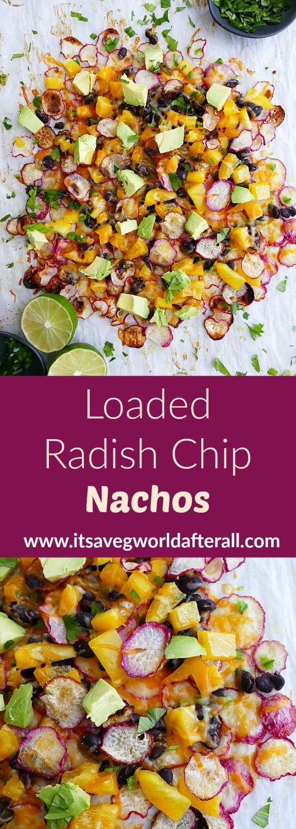 Loaded Radish Chip Nachos pin