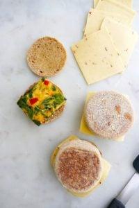 ingredients for breakfast sandwiches