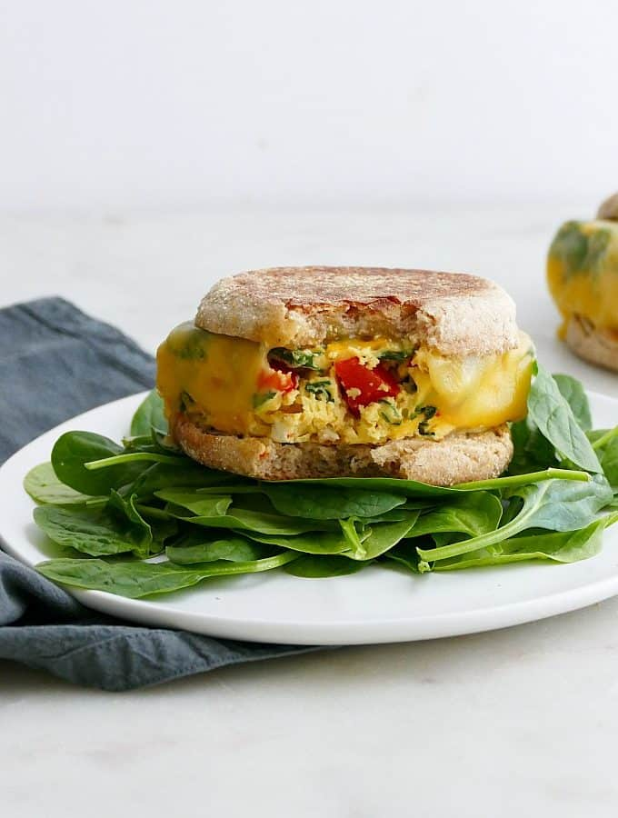 meal prep breakfast sandwiches